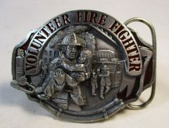 VOLUNTEER FIRE FIGHTER BELT BUCKLE 1990 ARROYO GRANDE RESCUE #6653