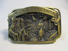 Vintage 1987 Limited Forest Fires Campaign 2604/5000 Belt Buckle #6654