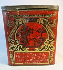 The Ocean Blend Tea Co. Ltd Toronto Advertising Tin