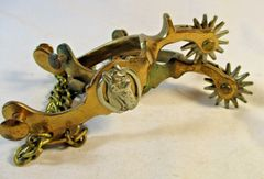 Anchor Brand Vintage Spurs Bronze Horse Head Pattern #766