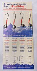 Vintage NOS Eagle Claw Wright &McGill 2-Way Spinner Rigs 4Pk Sz4 Baitholder #L5