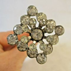 """Vintage Hat Pin 8"""" Diamond Shape with Crystals #HP7"""