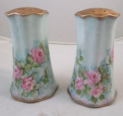 Set Of Handpainted Vintage M.C. Salt & Pepper Shakers #13-333