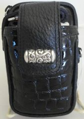 BRAND NEW BRIGHTON BLACK LEATHER CELL PHONE CASE