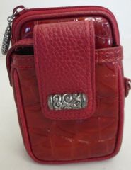 BRAND NEW BRIGHTON RED LEATHER CELL PHONE CASE
