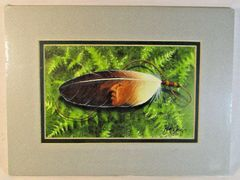 "Chippewa Artist David W Craig Matted Watercolor Print ""Forest Spirits"" #6859"