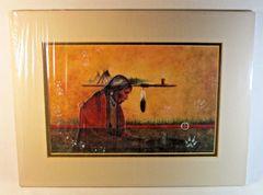 "Chippewa Artist David W Craig Watercolor Print ""My Peoples Memory"" #6863"