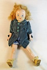 Antique German Marked Porcelain Doll With Original Clothing #13-6028