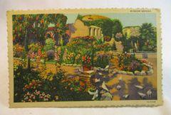 Misson Garden San Juan CAPISTRANO CA Vintage Unused Linen Postcard
