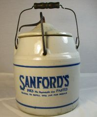 Sanford's Inks The Dependable Line Pastes Crock