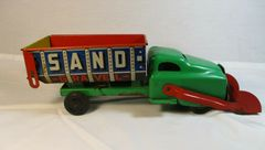 Vintage 1940's Banner Sand Truck Metal Toy Original Condition Great Graphics