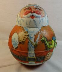 1980 Bristol Ware Roly Poly Santa Tin