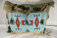 Amazing 1910 Sioux Beaded Teepee Bag