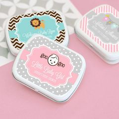Personalised Baby Shower Mint Tins - Baby Shower Theme