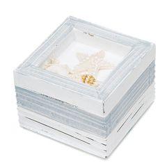 Beach Theme Wooden Trinket Boxes - Set of 12