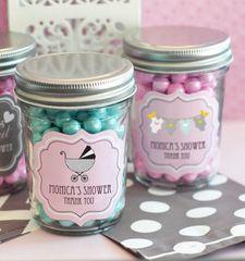 Mini Mason Jars Personalised - Baby Shower Theme