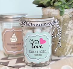 Mini Mason Jars Personalised - Wedding Theme