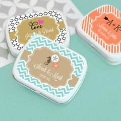 Personalised Mint Tins - Wedding Theme