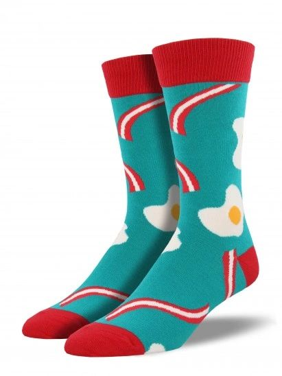 Crew Socks Mens BACON & EGGS