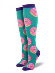 Knee High Socks Women DONUTS