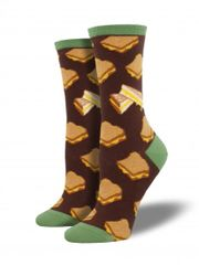 Crew Socks Women GRILLED CHEESE BROWN