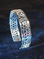Silver Lace 1/2 inch Cuff Bracelet