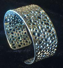 Silver Lace 1 inch Cuff Bracelet