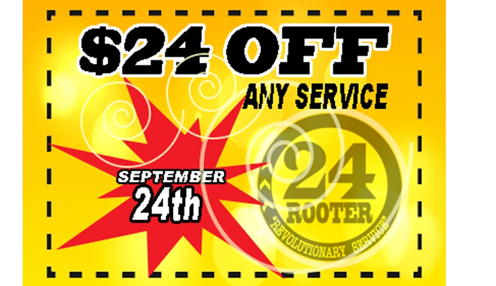 coupon for new plumbing fixture installation 24 rooter plumbers