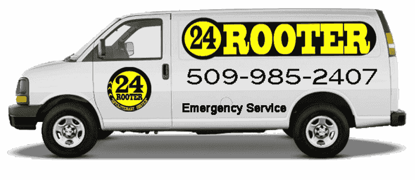 24 rooter of Yakima wa plumber sewer drain cleaning plumbing rooting service company van with logo