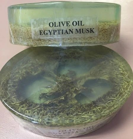 Olive Oil Egyptian Musk with loufa.