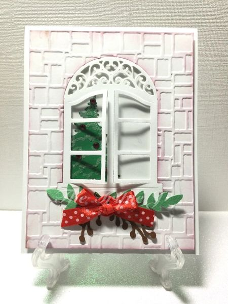 Holiday Window Christmas Tree Blank Card Handmade Cards Greeting Cards Birthday Cards Gifts