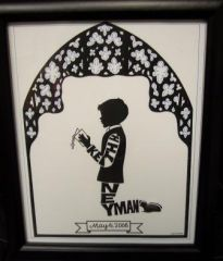 PERSONALIZED COMMUNION SILHOUETTE-BOY