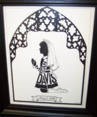 PERSONALIZED COMMUNION SILHOUETTE - GIRL