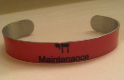 """CHAI"" (LIFE) MAINTENANCE MINI CUFF BRACELET"