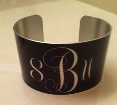 MONOGRAM SOLID COLOR CUFF BRACELET
