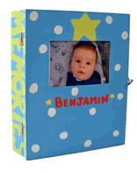 Personalized Boy Memory Box-Lt. Blue Hand Painted