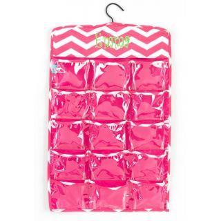 Monogram Pink Hanging Organizer.