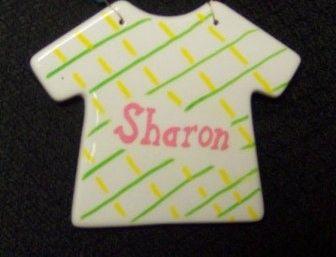Tee Shirt Ceramic Room Sign-Handpainted
