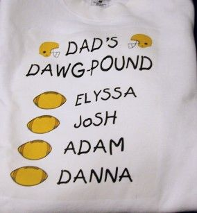 DAWG POUND FAMILY IMPRINTED SWEATSHIRT -PERSONALIZED
