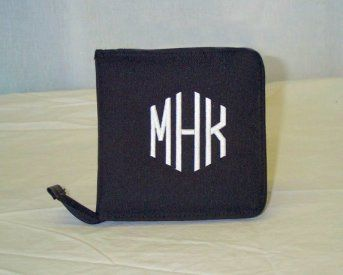 CD Holder (Black only) 600 Denier Poly - Embroidered Name or Initials