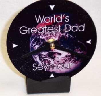 "Personalized ""World's Greatest ______"" Desk Clock"