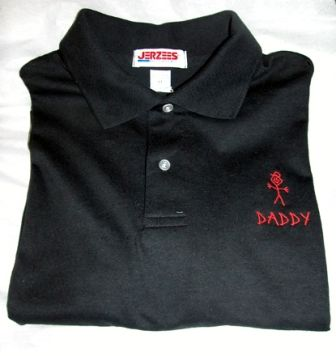 """Dad"" Stick Figure Polo Shirt-Embroidered"