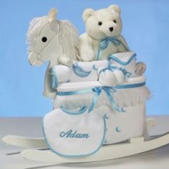 PERSONALIZED ROCKING HORSE PLUS-BOYS PACKAGE