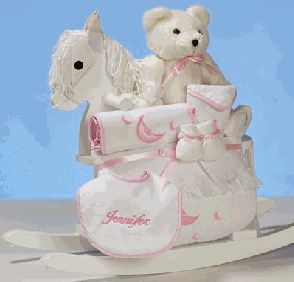 PERSONALIZED ROCKING HORSE PLUS (GIRLS) PACKAGE