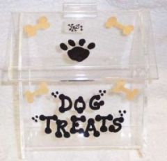 Personalized House shaped Dog Snack Box