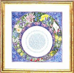 Caspi Framed Print-Blue Sky-Parent's Gift Text
