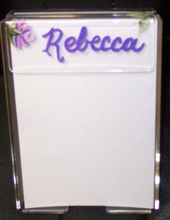 Notepad with Holder-Floral Handpainted & Personalized FREE