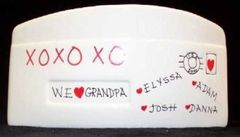 "FAMILY LOVE - HAND PAINTED ""I LOVE"" CERAMIC ENVELOPE-LARGE"