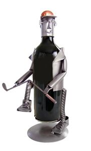 Golfer-Frustrated Wine Caddy