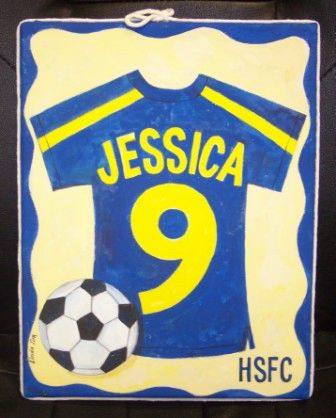 SOCCER CANVAS- 11' x 14' HAND PAINTED BY TIRK-PERSONALIZED ORIGINAL